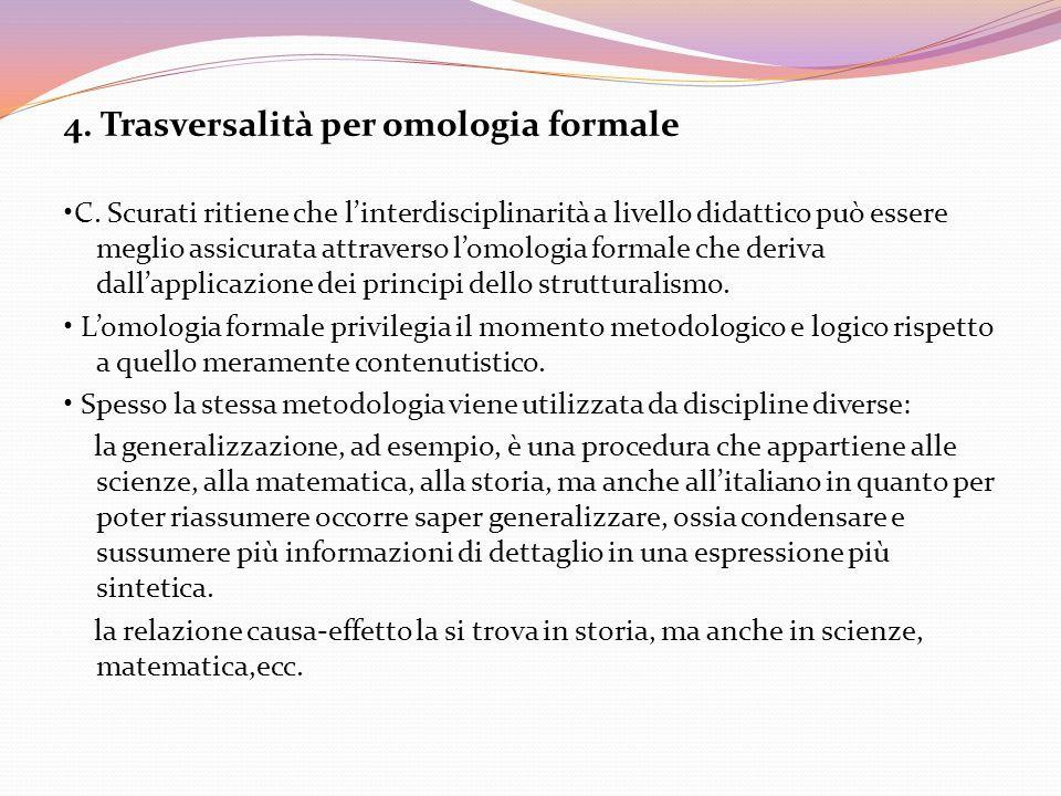 4. Trasversalità per omologia formale
