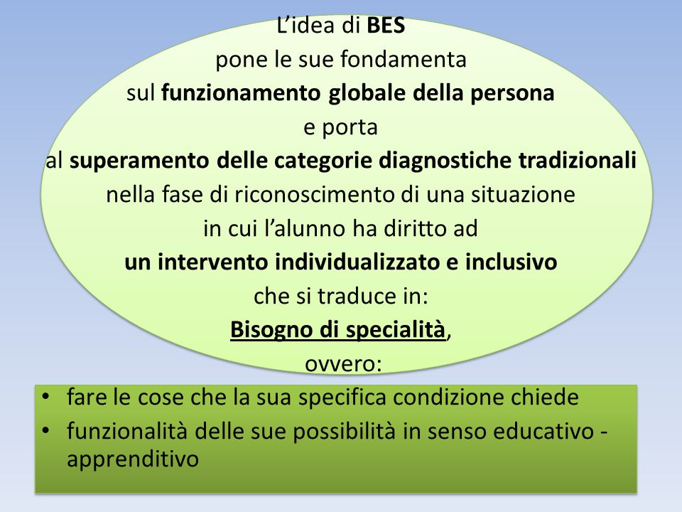 un intervento individualizzato e inclusivo