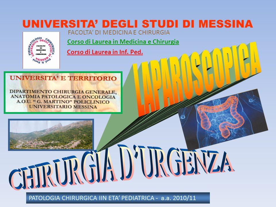 LAPAROSCOPICA CHIRURGIA D'URGENZA UNIVERSITA' DEGLI STUDI DI MESSINA
