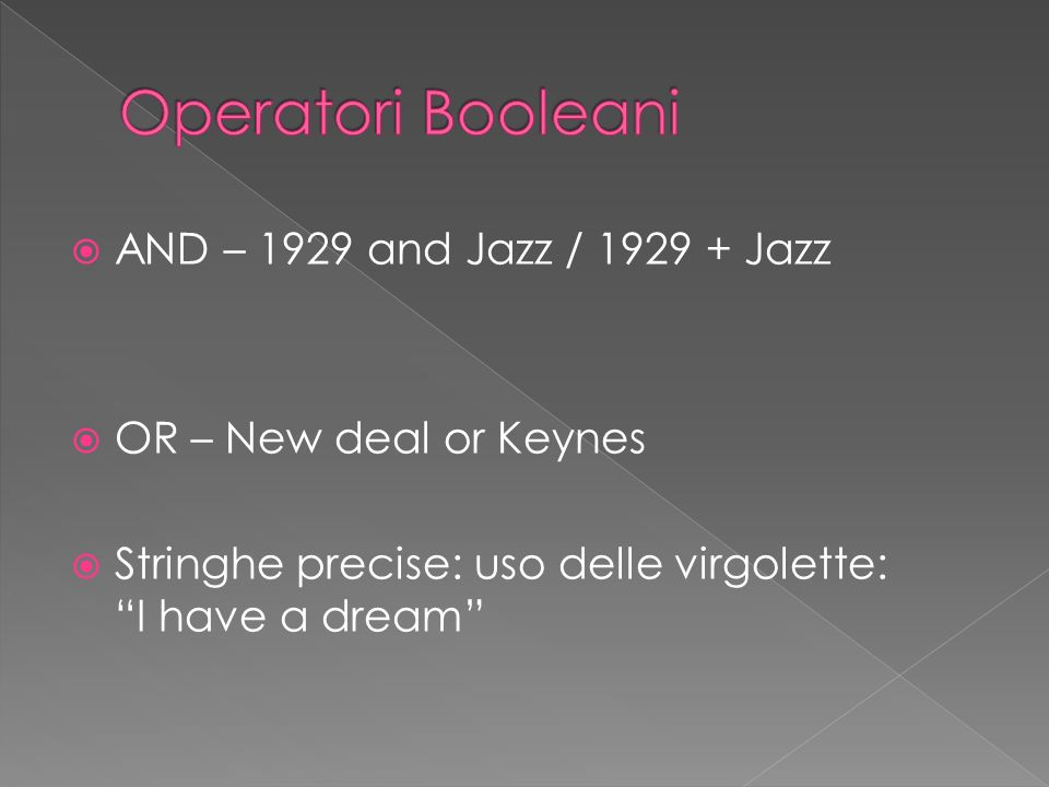 Operatori Booleani AND – 1929 and Jazz / 1929 + Jazz