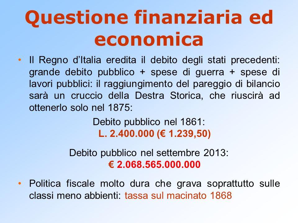 Questione finanziaria ed economica