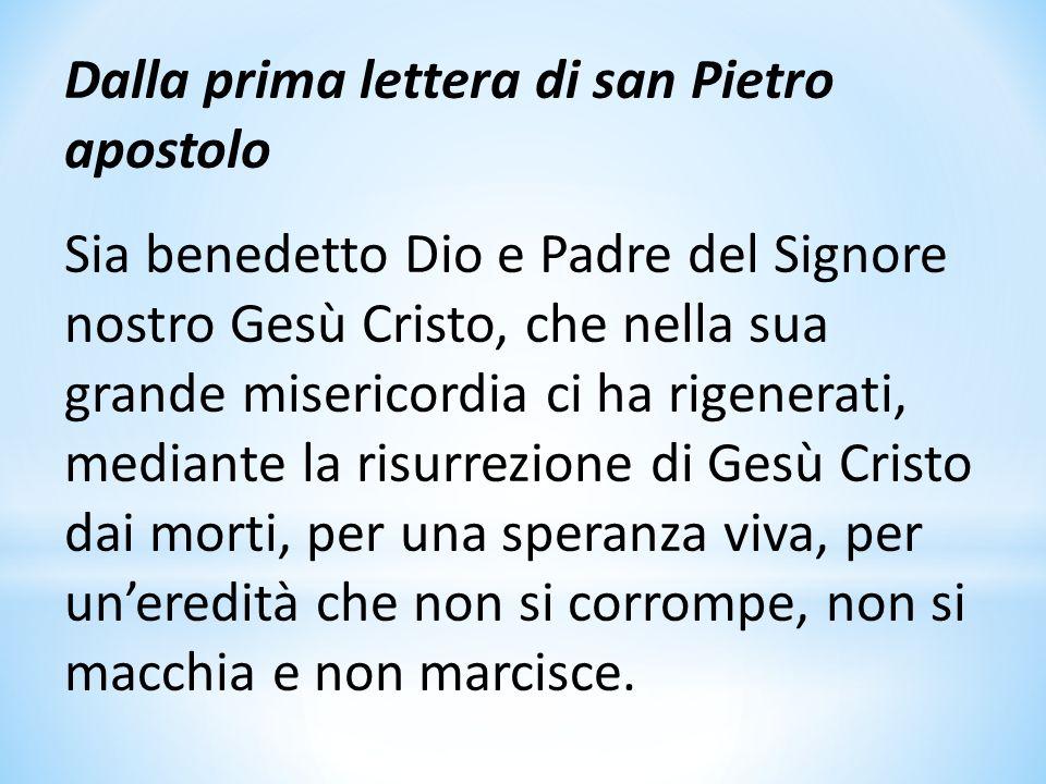 Dalla prima lettera di san Pietro apostolo