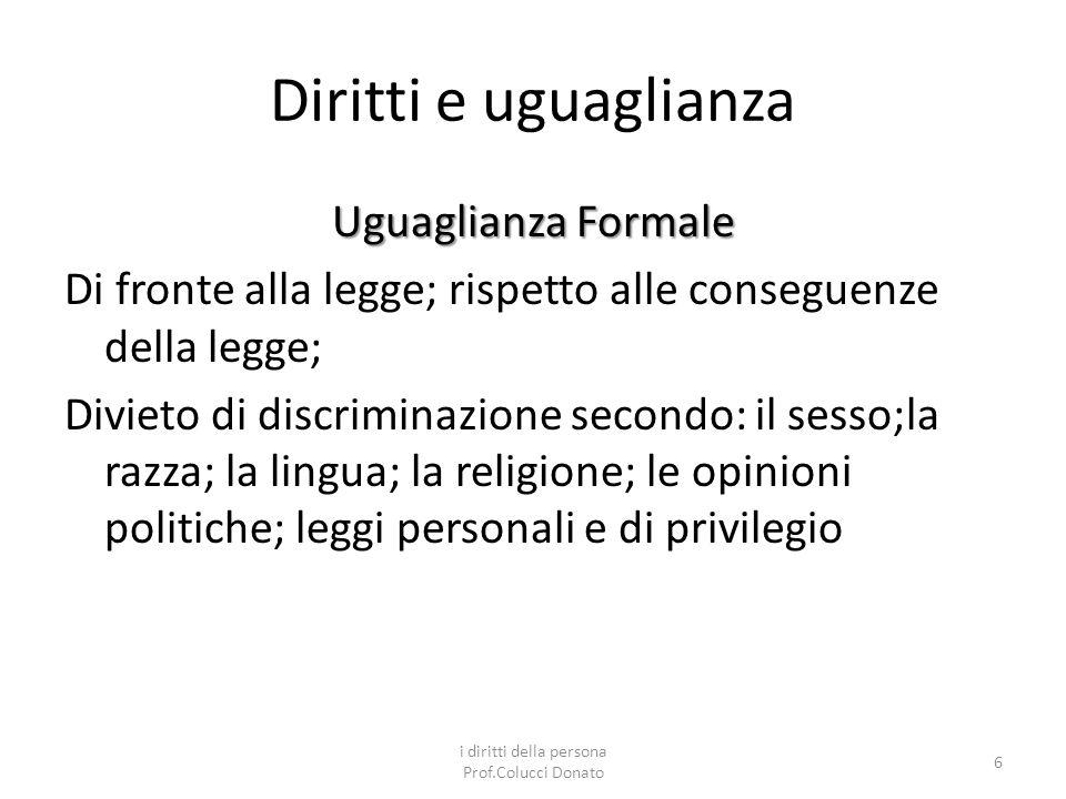 i diritti della persona Prof.Colucci Donato