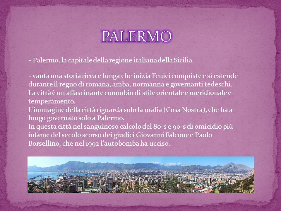 PALERMO - Palermo, la capitale della regione italiana della Sicilia
