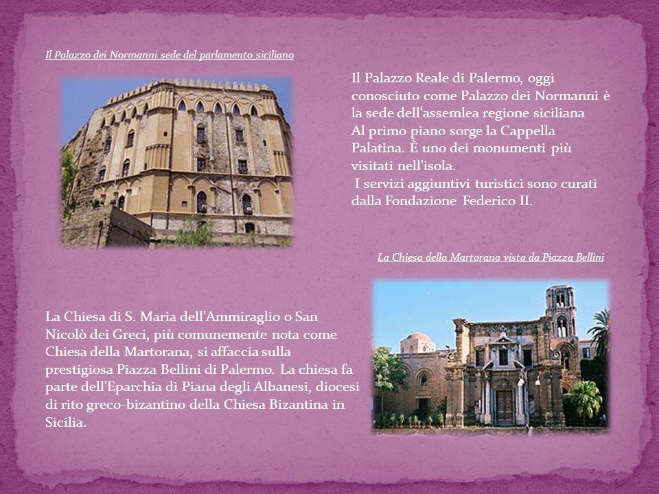Il Palazzo dei Normanni sede del parlamento siciliano