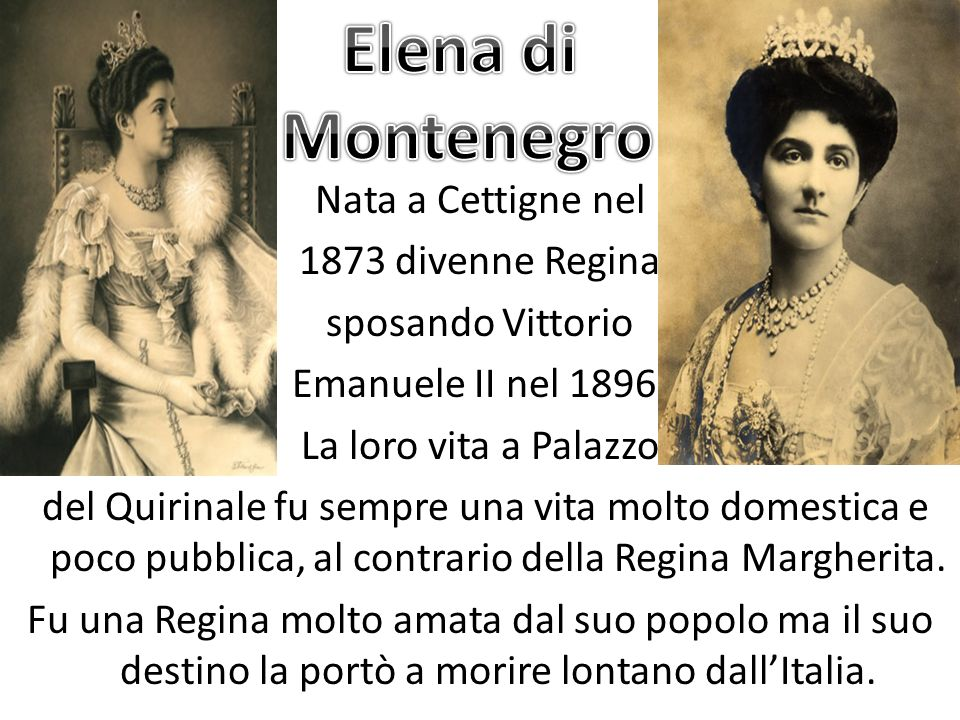 Elena di Montenegro.