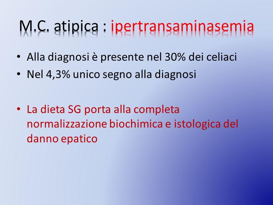 M.C. atipica : ipertransaminasemia