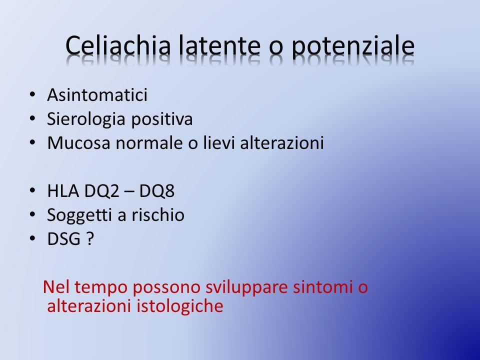 Celiachia latente o potenziale