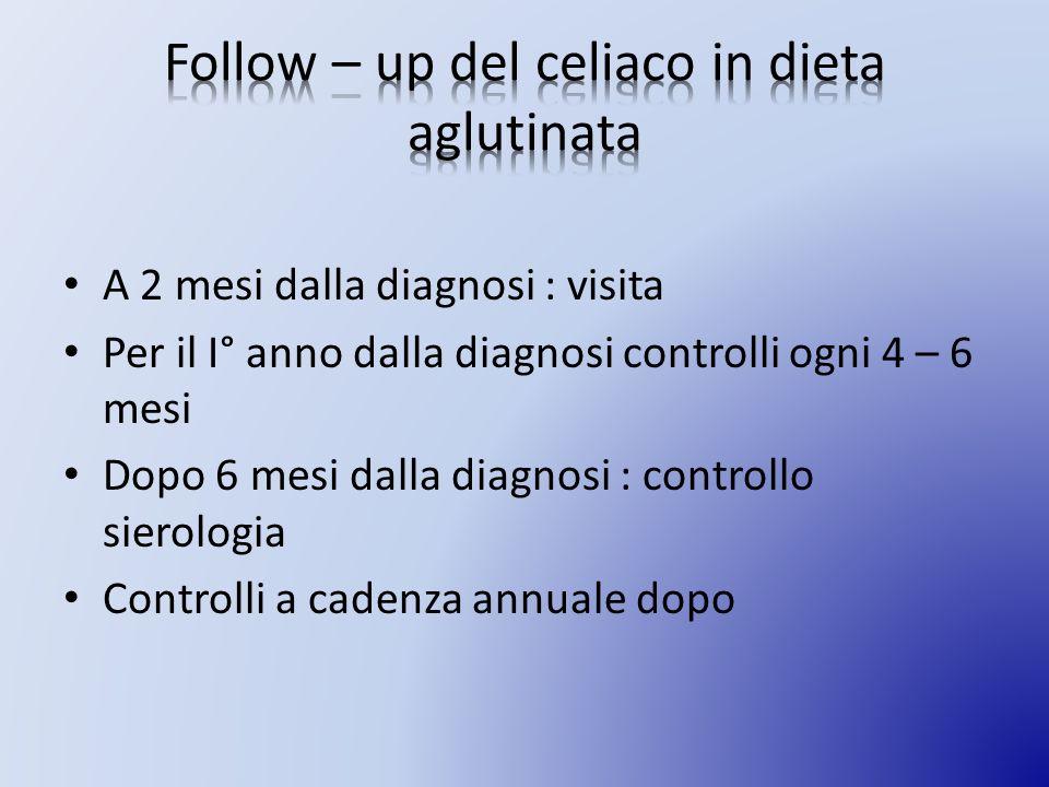 Follow – up del celiaco in dieta aglutinata