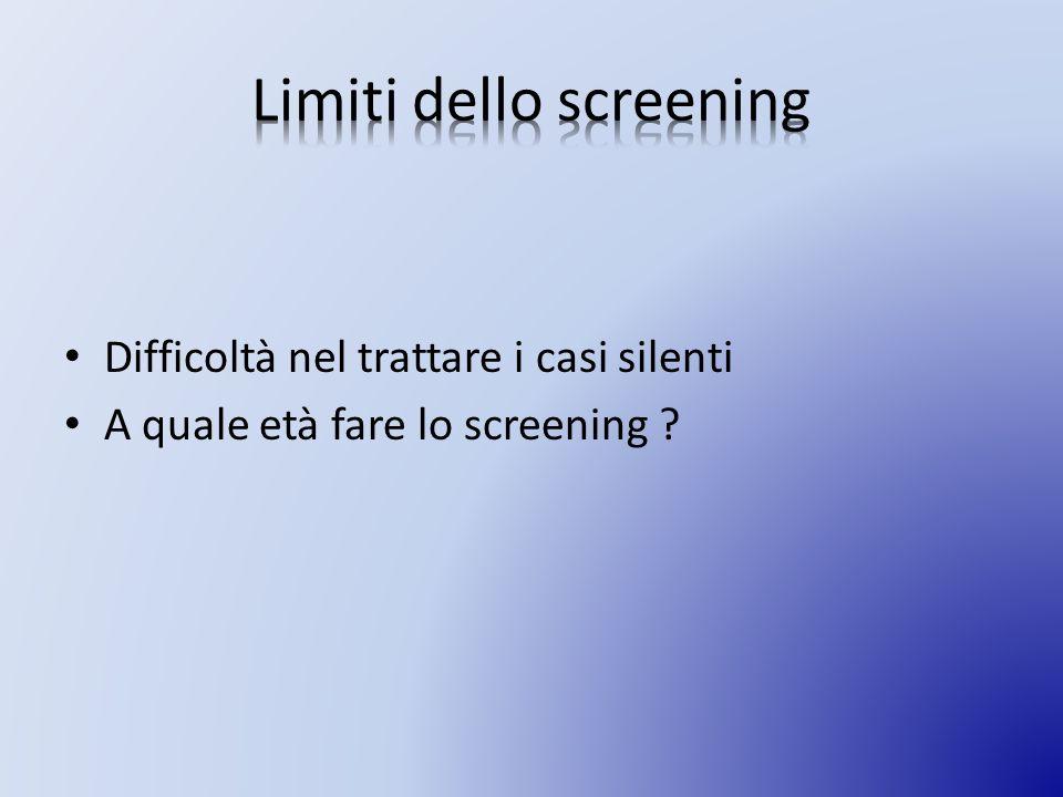 Limiti dello screening