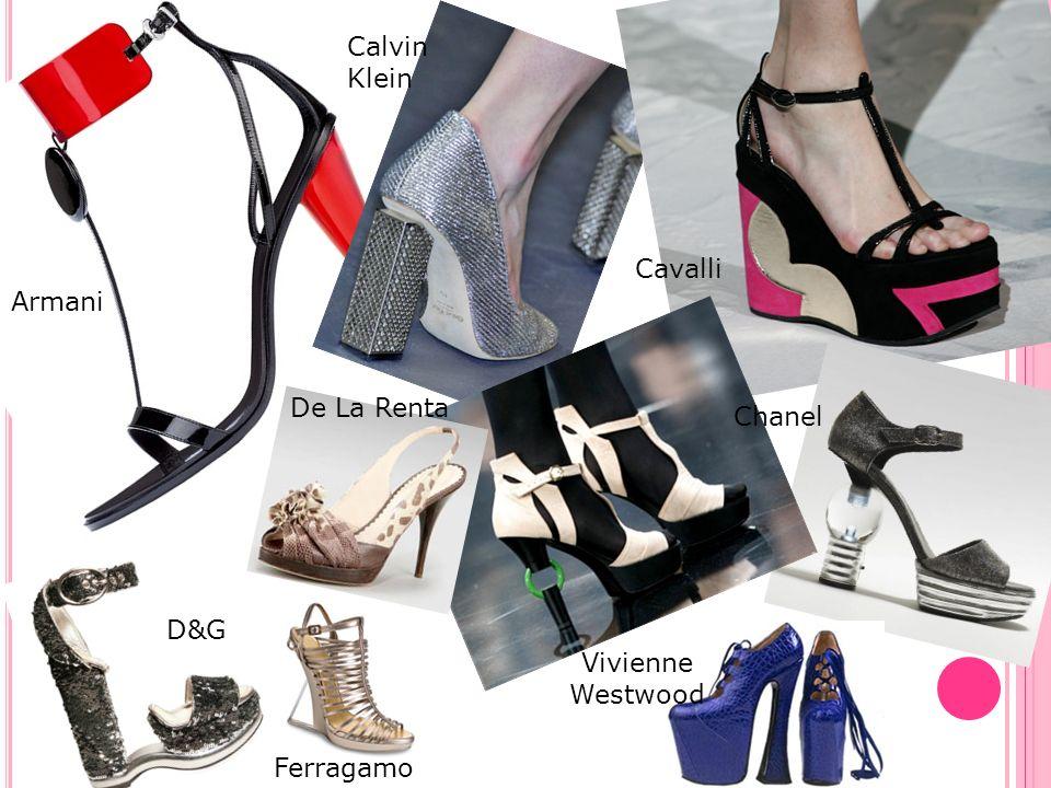 Calvin Klein Cavalli Armani De La Renta Chanel D&G Vivienne Westwood Ferragamo