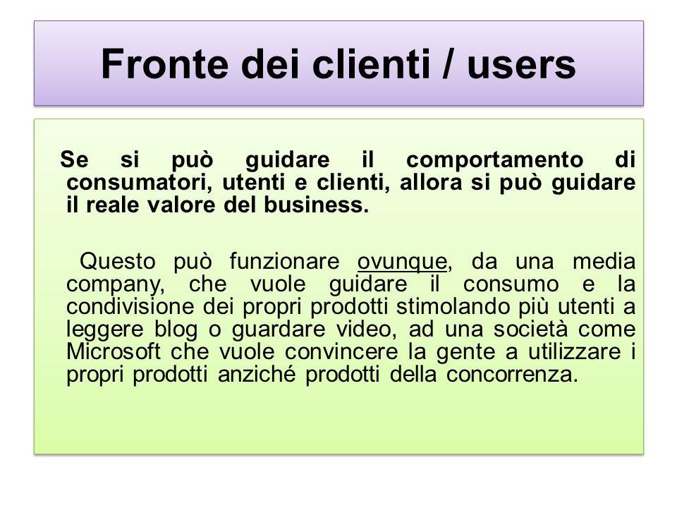 Fronte dei clienti / users