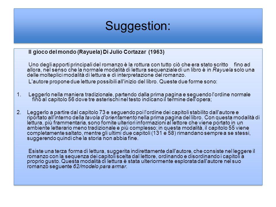 Suggestion: Il gioco del mondo (Rayuela) Di Julio Cortazar (1963)