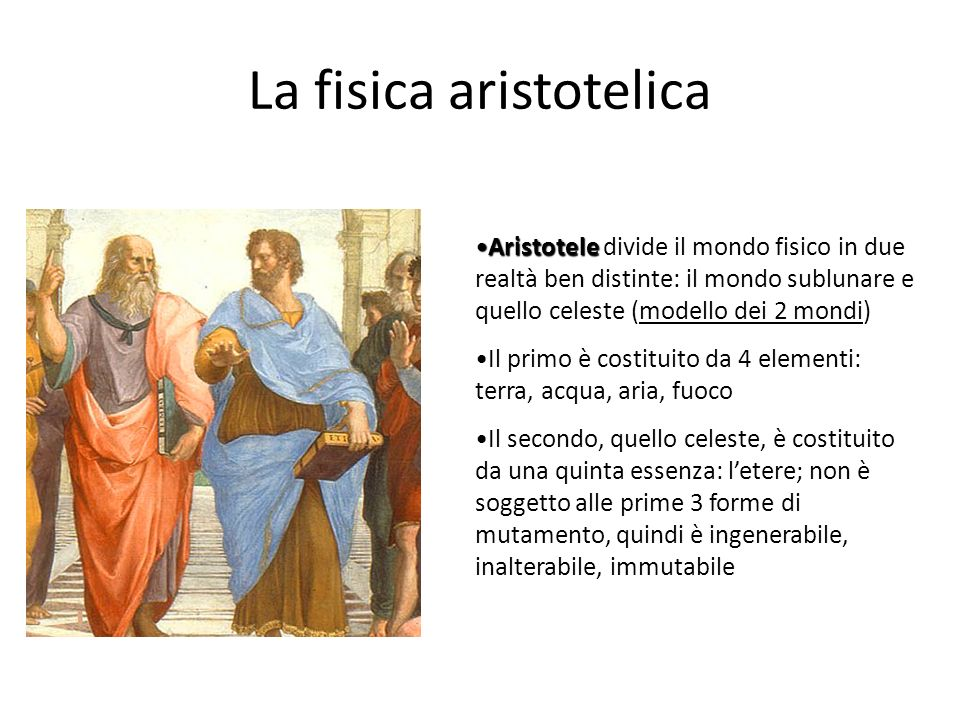 La fisica aristotelica