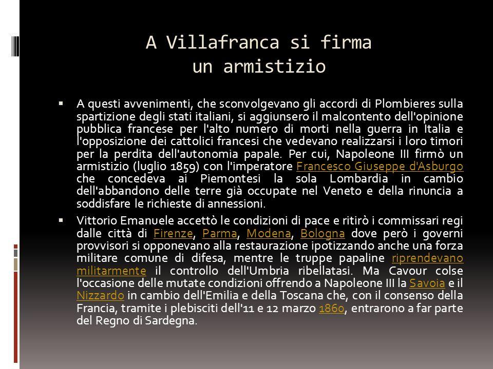 A Villafranca si firma un armistizio