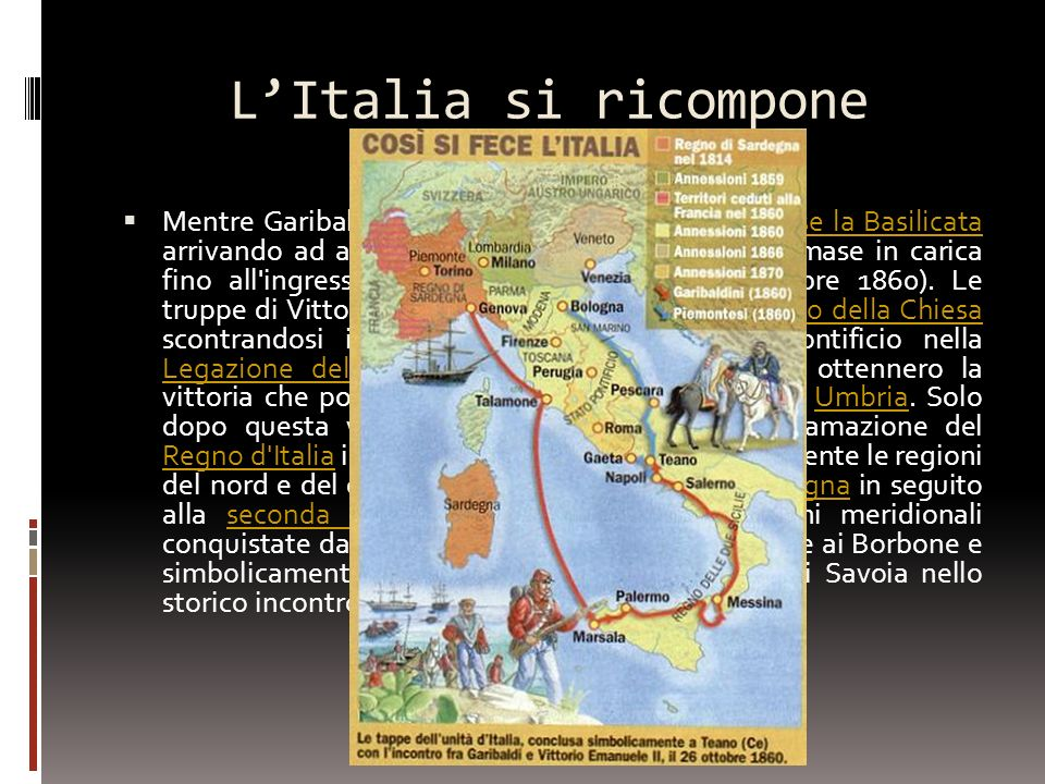L'Italia si ricompone
