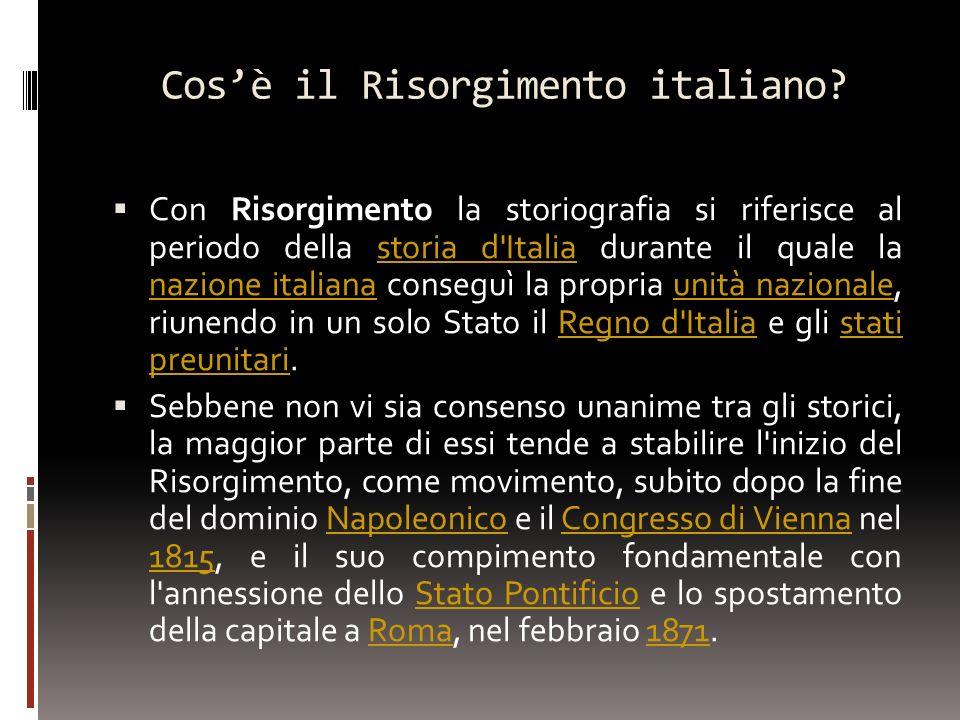 Cos'è il Risorgimento italiano