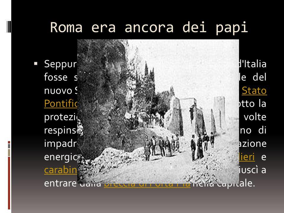 Roma era ancora dei papi