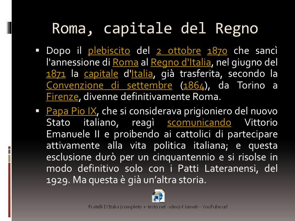 Roma, capitale del Regno