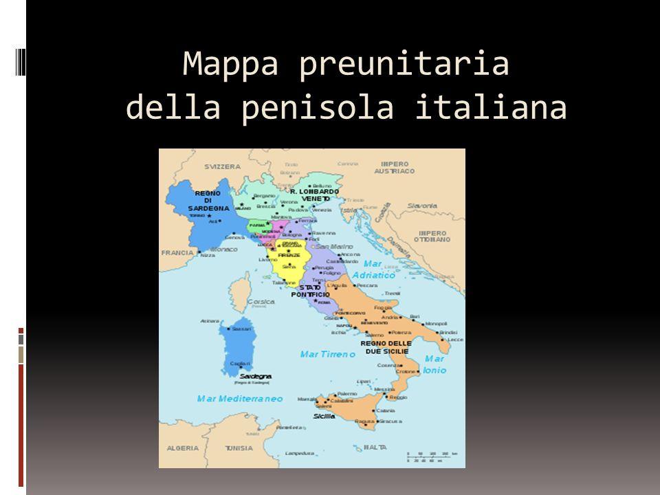 Mappa preunitaria della penisola italiana