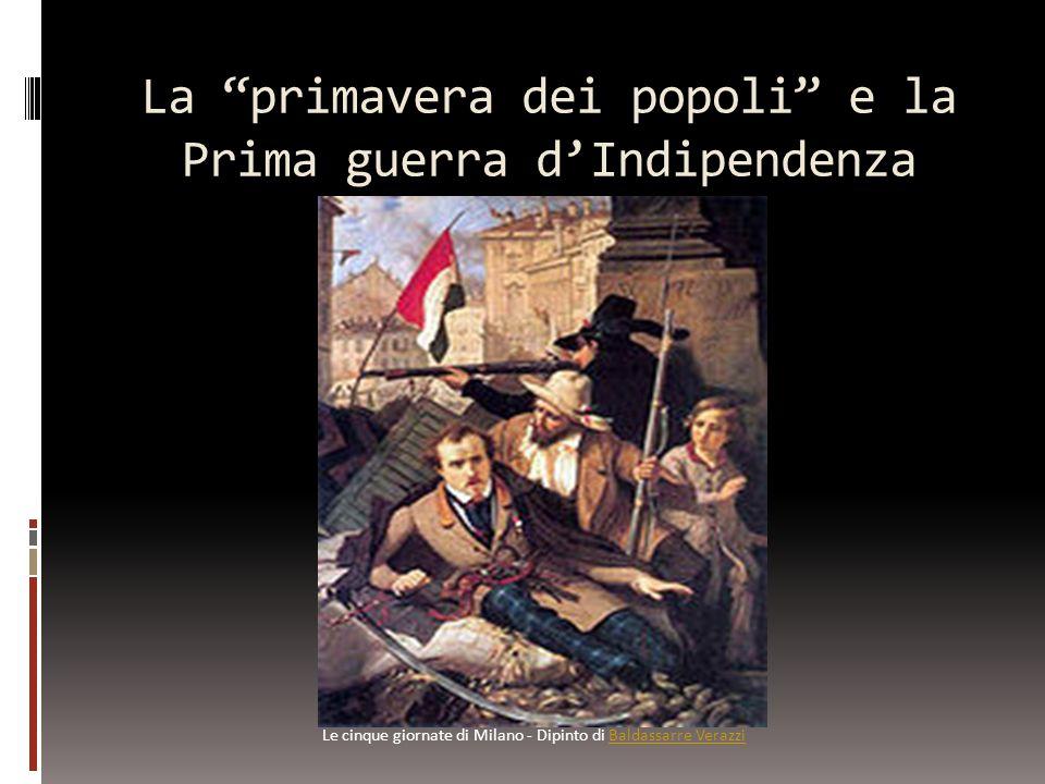 La primavera dei popoli e la Prima guerra d'Indipendenza