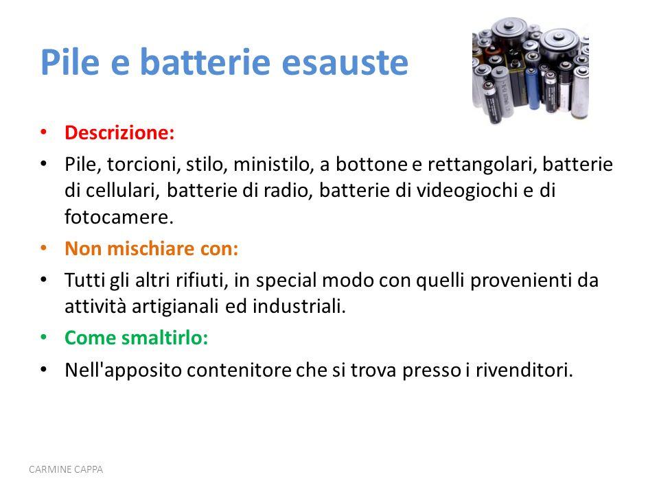 Pile e batterie esauste