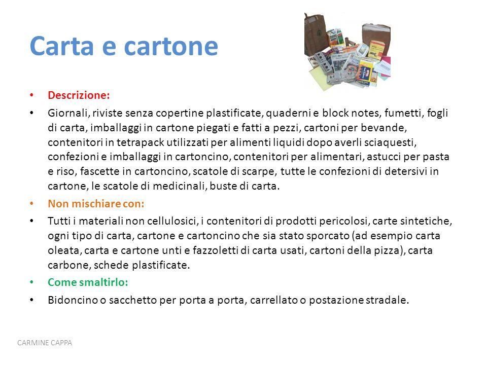 Carta e cartone Descrizione: