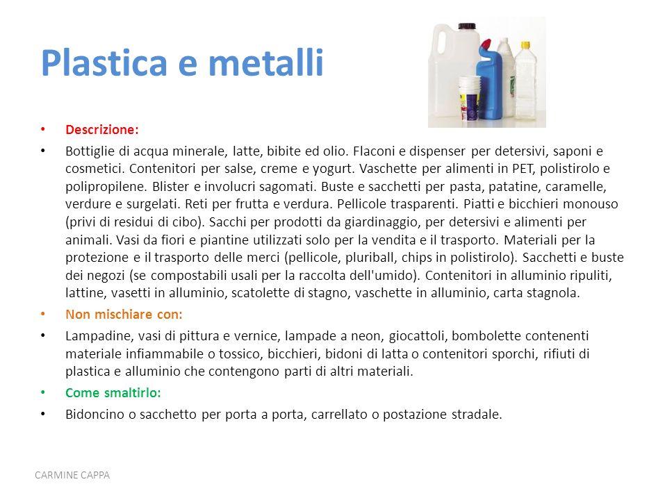 Plastica e metalli Descrizione: