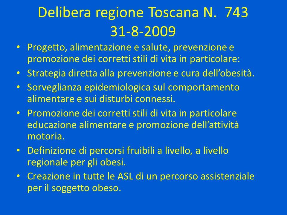 Delibera regione Toscana N. 743 31-8-2009
