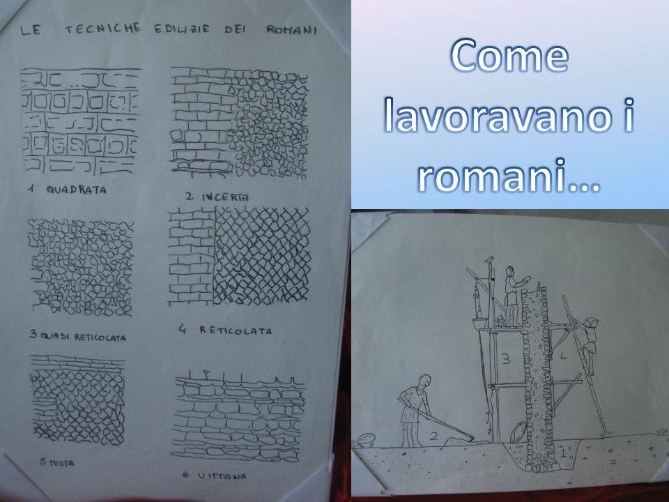 Come lavoravano i romani…