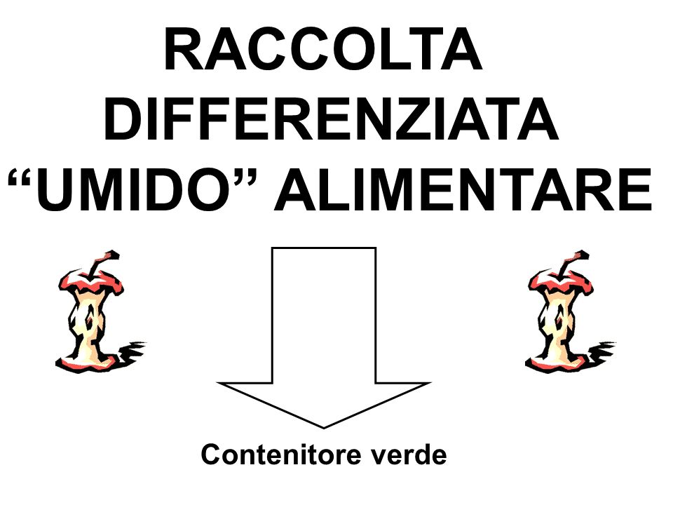 RACCOLTA DIFFERENZIATA UMIDO ALIMENTARE