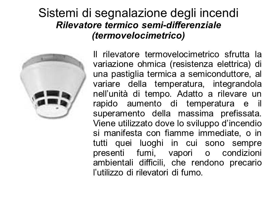 Rilevatore termico semi-differenziale (termovelocimetrico)