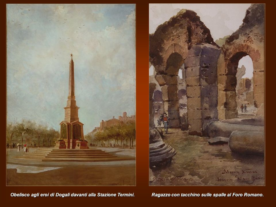 Obelisco agli eroi di Dogali davanti alla Stazione Termini.