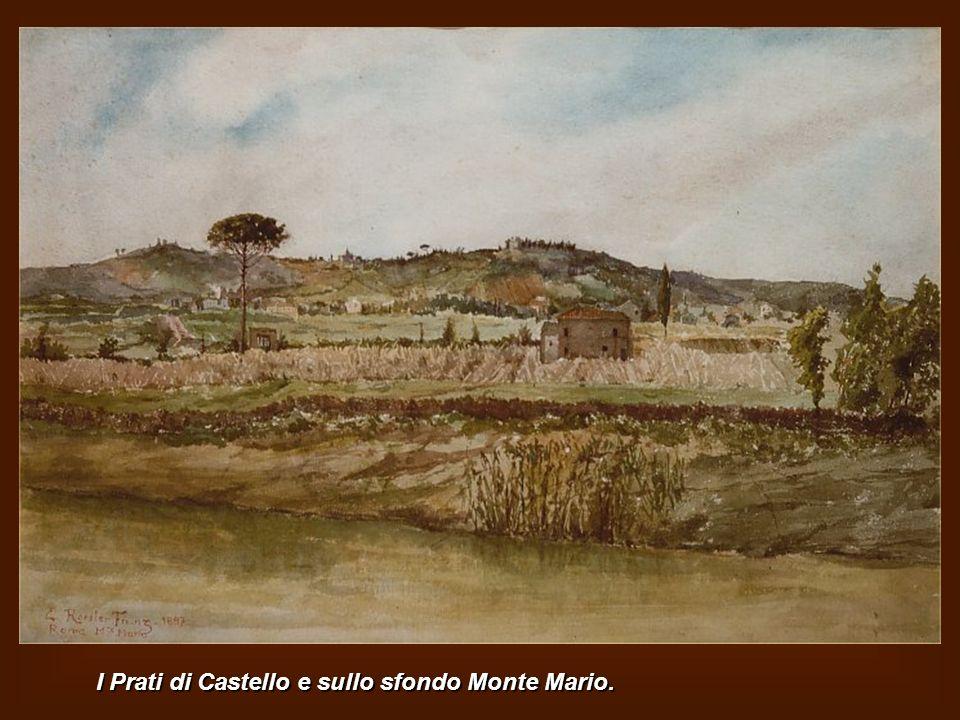 I Prati di Castello e sullo sfondo Monte Mario.