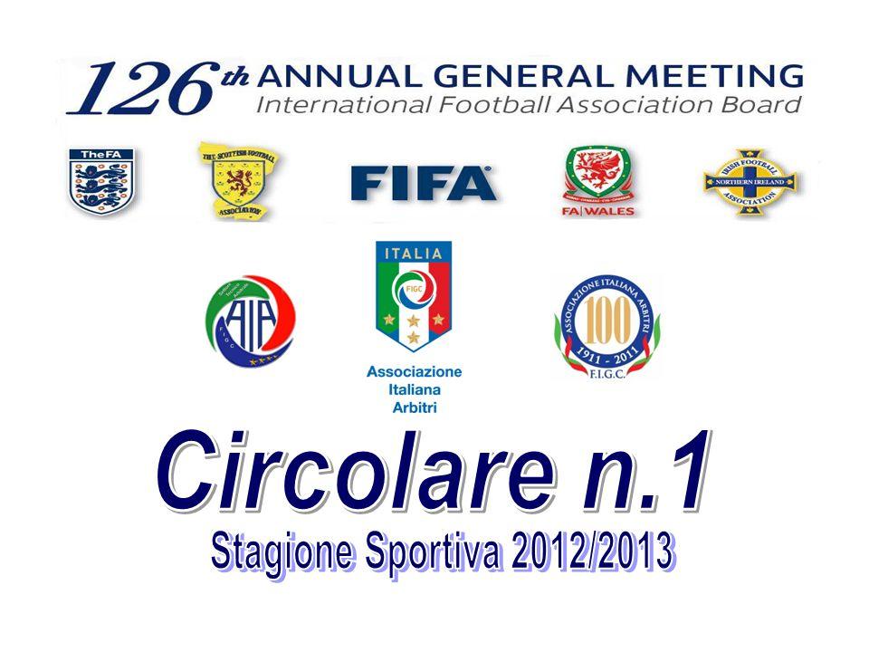 Circolare n.1 Stagione Sportiva 2012/2013