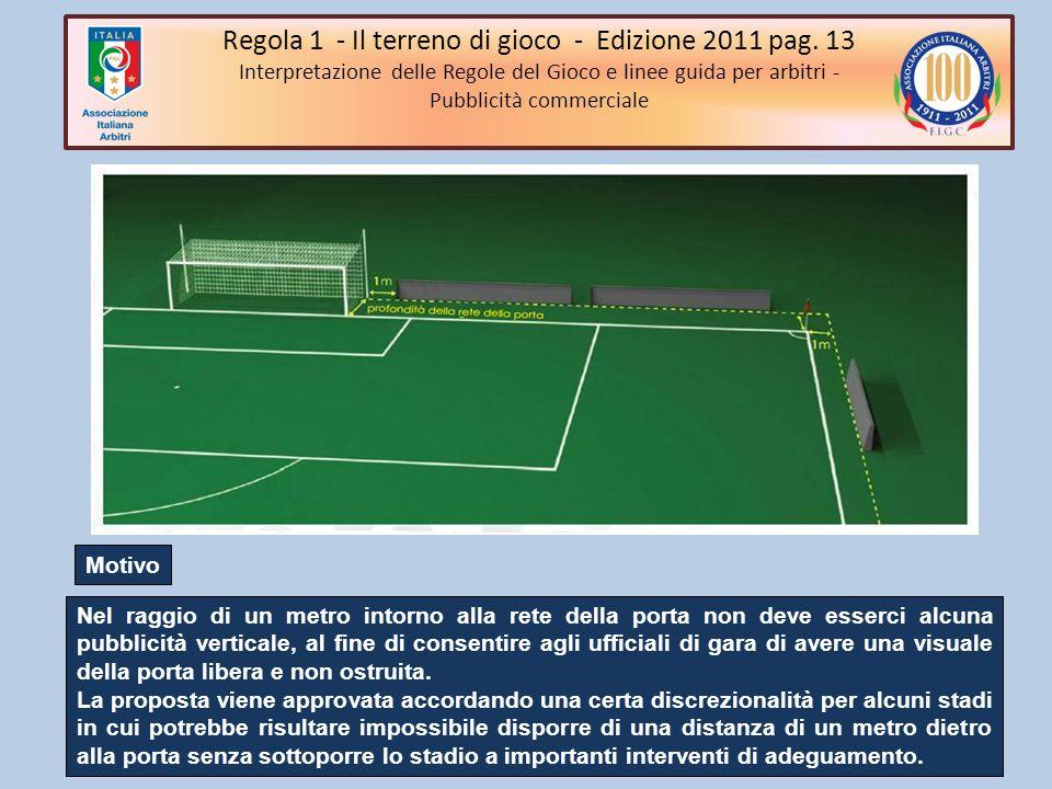 Regola 1 - Il terreno di gioco - Edizione 2011 pag