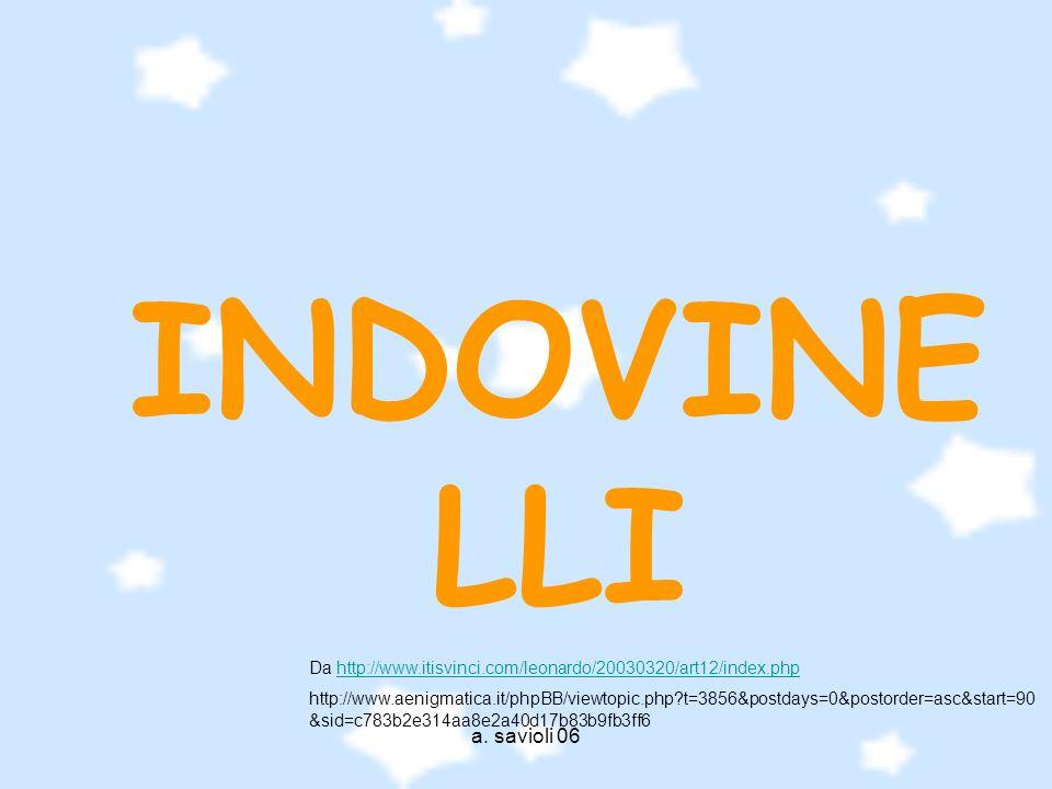 INDOVINELLI Da http://www.itisvinci.com/leonardo/20030320/art12/index.php.