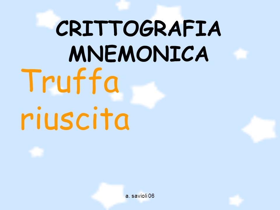 CRITTOGRAFIA MNEMONICA