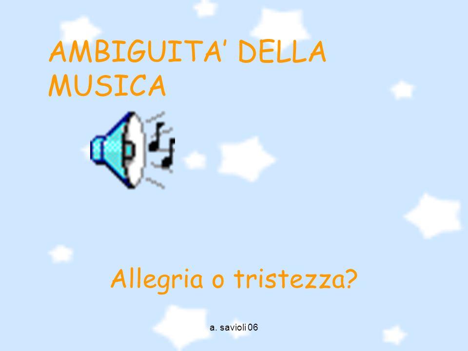 AMBIGUITA' DELLA MUSICA