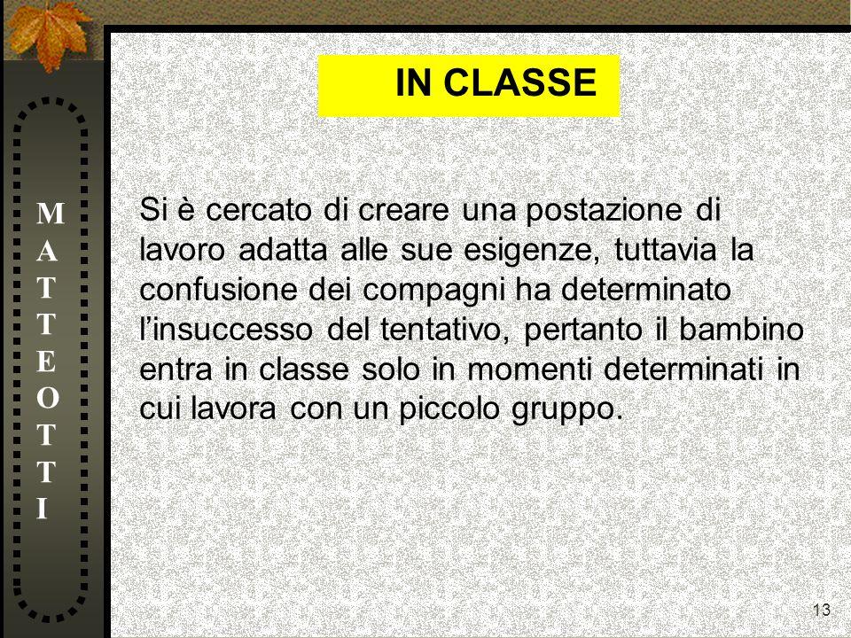 IN CLASSE MATTEOTTI.