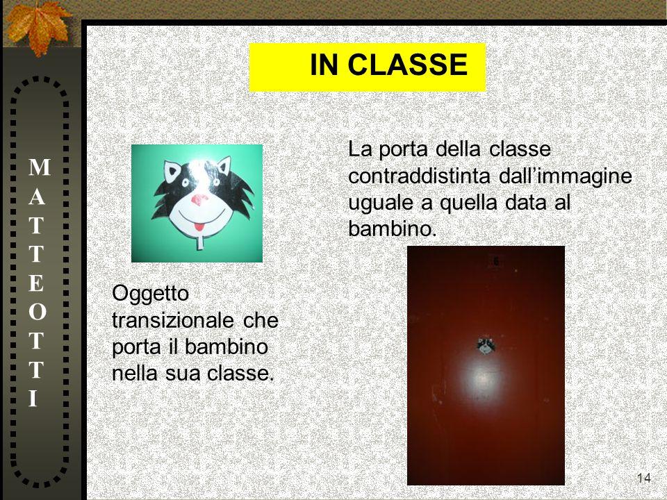 IN CLASSE MATTEOTTI La porta della classe