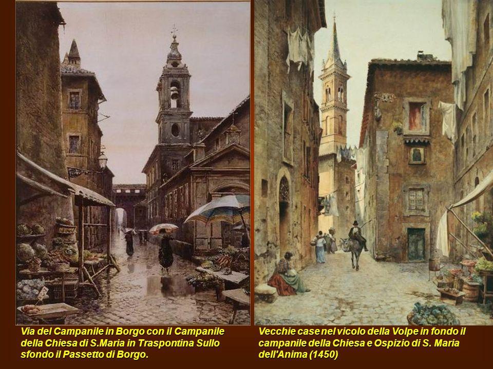 Via del Campanile in Borgo con il Campanile della Chiesa di S
