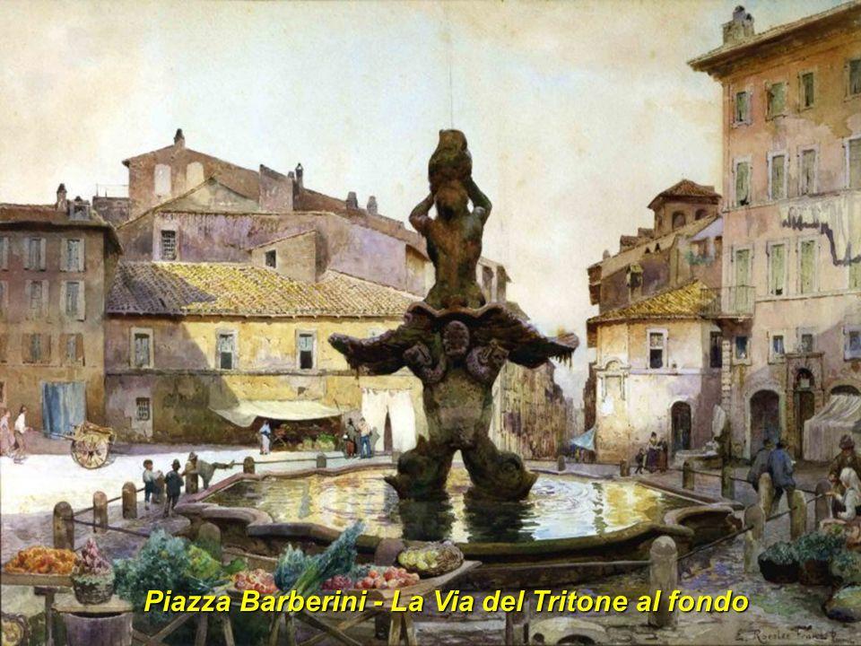 Piazza Barberini - La Via del Tritone al fondo