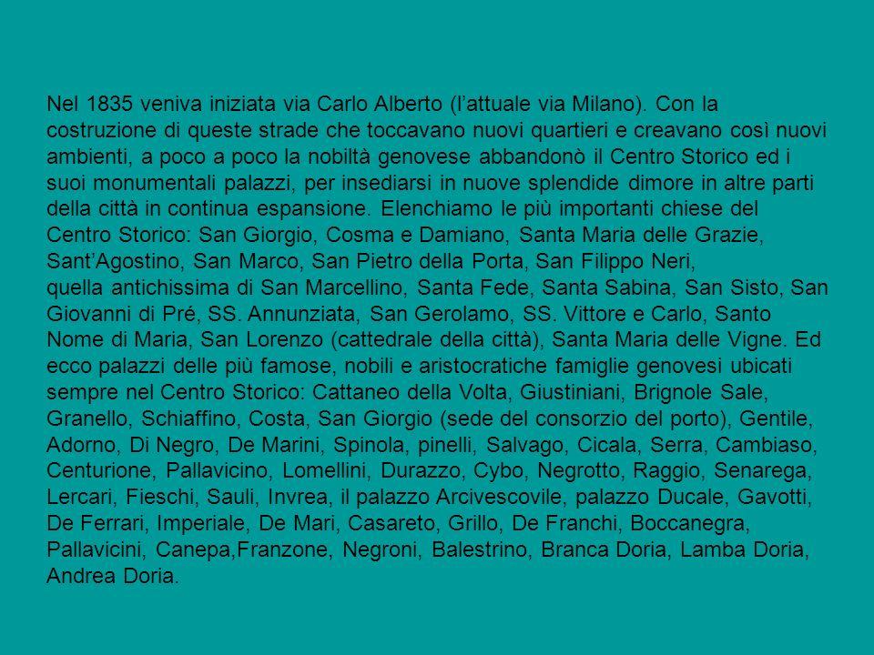 Nel 1835 veniva iniziata via Carlo Alberto (l'attuale via Milano)
