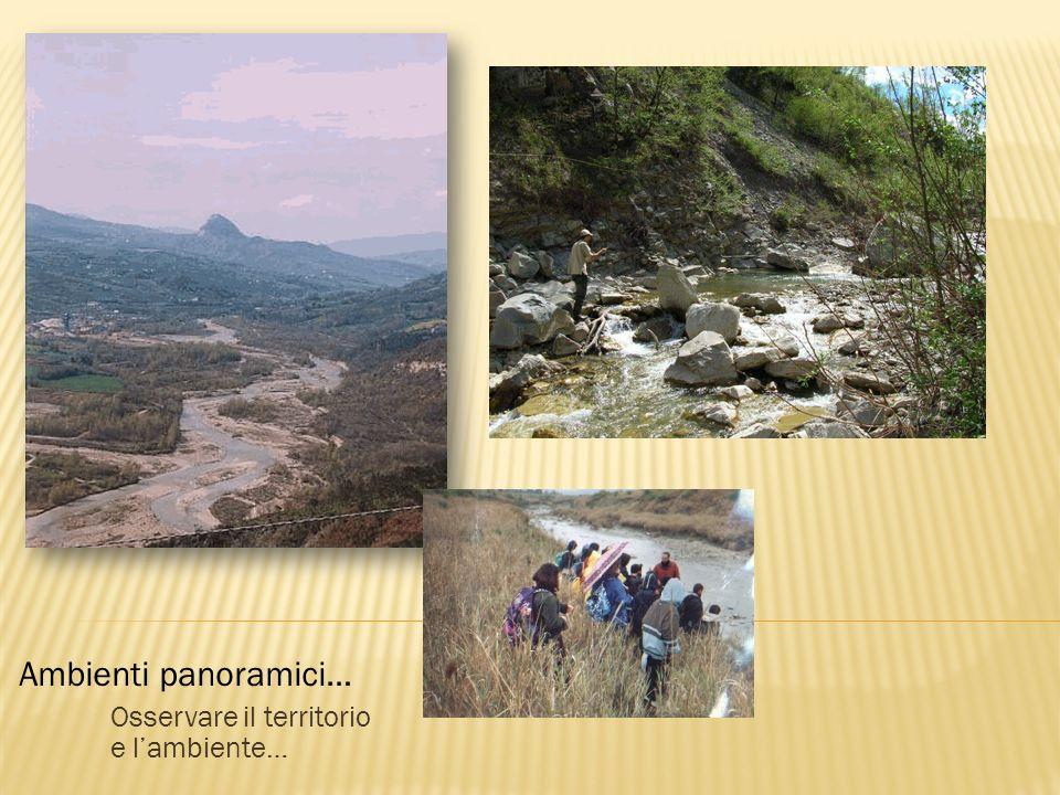 Osservare il territorio e l'ambiente…