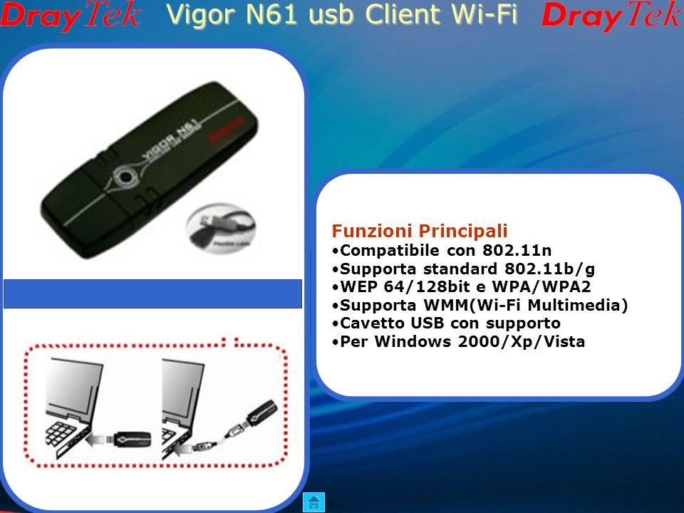 Vigor N61 usb Client Wi-Fi