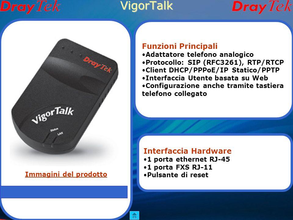 VigorTalk Funzioni Principali Interfaccia Hardware