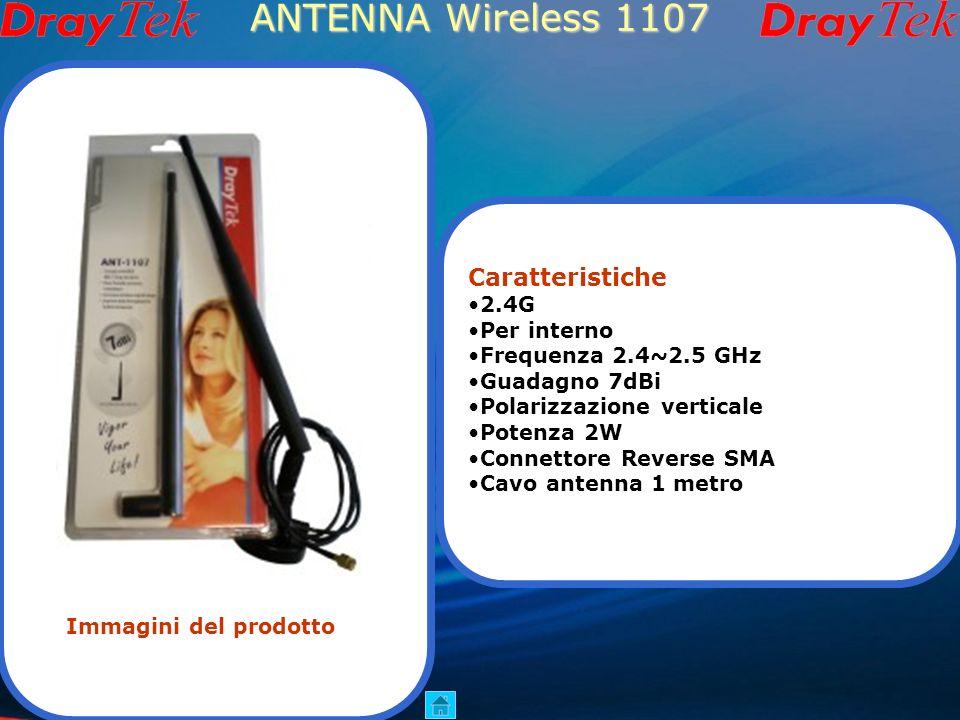 ANTENNA Wireless 1107 Caratteristiche 2.4G Per interno