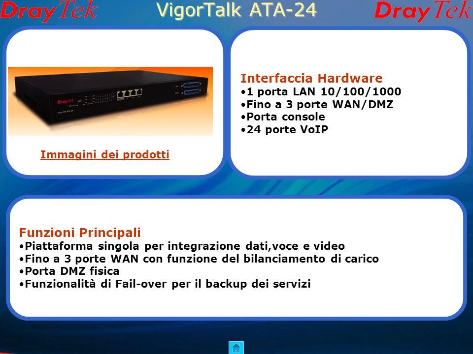 VigorTalk ATA-24 Interfaccia Hardware Funzioni Principali