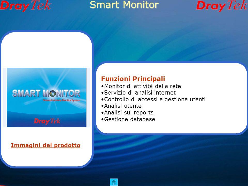 Smart Monitor Funzioni Principali Monitor di attività della rete